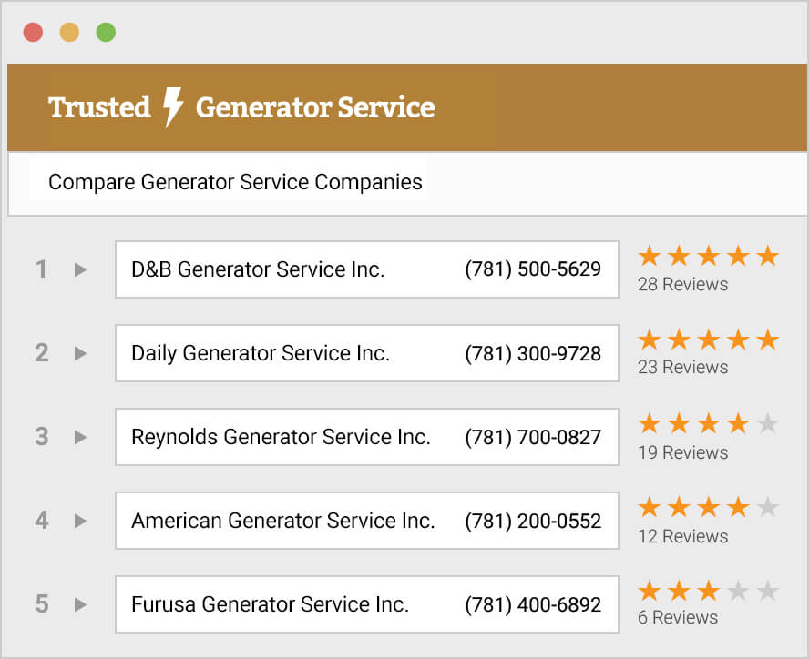 Free Quotes from Local Generator Service Pros - Trusted